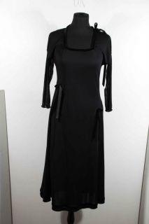 Giorgio Armani Italian Black Jersey MIDI Dress 3 4 Sleeves