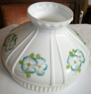 Vintage Hand Painted Milk Glass Lamp Shade   Gone Wind Hurricane Style