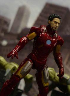 Custom Marvel Universe Avengers Ironman Unmasked Robert Downey Jr Tony