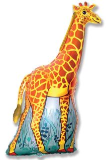 Jolly Giraffe 32 Foil Balloon Jungle Animal Parties
