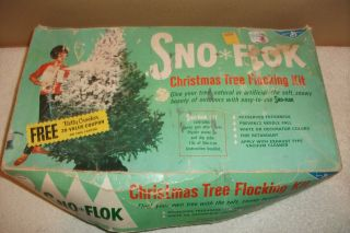 Vintage Snow Flok Flock Flocking Kit Christmas Tree General Mills