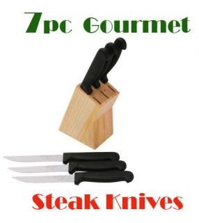 Gourmet Chef 7pc Stainless Steel Steak Knives Knife Cutlery Set