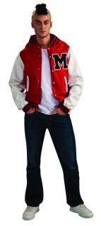 Glee Puck Football Jacket Wig Costume Adult Standard New