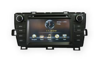 GPS Navigation Radio DVD LCD Plug N Play Head Unit Fits Toyota Prius