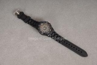 geneva large silicone watch designer inspired black