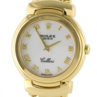 Geneve Cellini 6621 Solid 18K Yellow Gold Rare Swiss Quartz Ladies