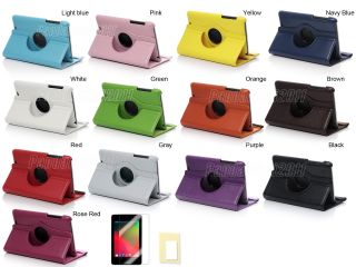 Leather Smart Cover Case for Google Nexus 7 Accessories 10 in 1