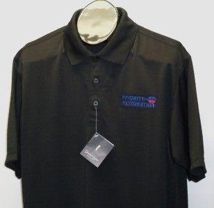 New Mens Black Gordon Cooper Golf Polo Shirt XL