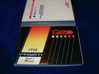 1995 Geo Prizm Owners Manual Portfolio Kit