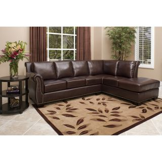 New Living Room Glendale Premium Italian Leather Sectional Sofa Home