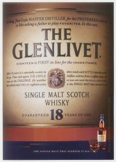 2005 Glenlivet 18 Year Old Scotch Whisky Print Ad