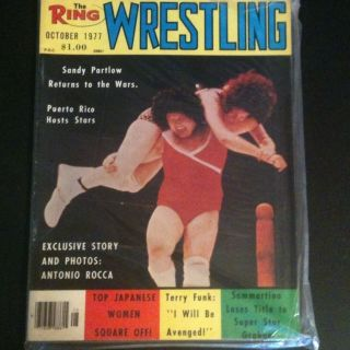 Wrestling Magazine Oct 1977 Bruno Sammartino Womens Girls WWE AWA
