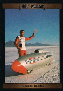 Harley Davidson Motorcycle George Roeder Drove A Torpedo Shaped