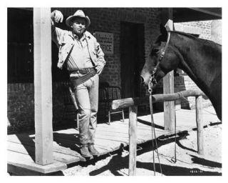 Glenn Ford and Horse Western Scene Still G025