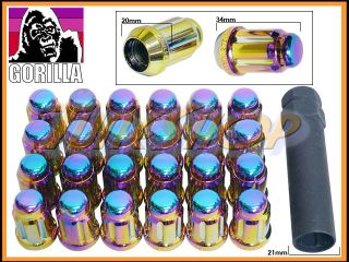 24 Gorilla Spline Tuner Lock Lug Nut 12x1 5 1 5 Acorn Wheels Rims Neo