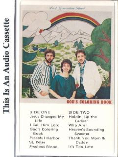 Band Gods Coloring Book Christian Music CCM Gospel Cassette