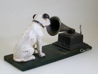 RCA Nipper Dog with Gramophone Phonograph Cast Iron Doorstop
