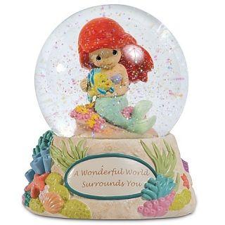 Precious Moments Gift Musical Water Globe  Disney Ariel Little Mermaid