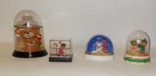 Hard Plastic Christmas Snow Globes Teddy Bear Nativity Shepherd