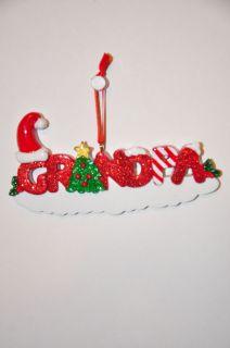 Christmas Ornaments Grandfather Grandpa Grandad Free Personalization