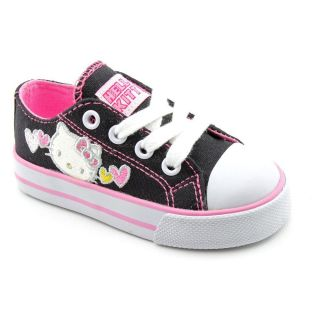Hello Kitty Lil Katie Toddler Girls Size 10 Black Fabric Sneakers