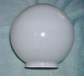 White Glass Globe Lamp Shade 6 inch Diameter 3 1 4 inch Fitter