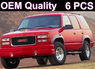 00 06 GMC Yukon Fender Flares Side Cover Scratch Protector Black