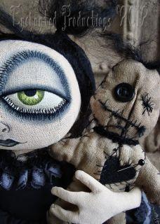 OOAK PFATT Primitive Folk Art Halloween Goth Baby Doll Joyce Stahl