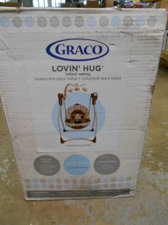 Graco Lovin Hug Easy Entry Open Top Curved Frame Swing Morgan 1761531