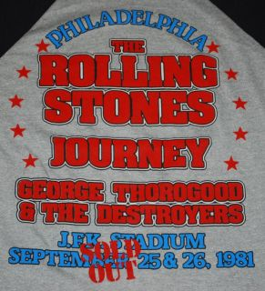 Vintage The Rolling Stones George Thorogood The Destroyers Shirt 1980