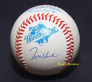 Tom Glavine 1991 World Series Autographed Baseball 17