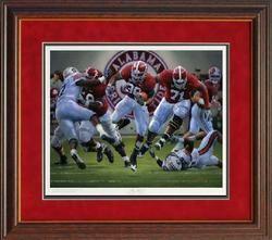 Alabama Football Daniel Moore The BLOWOUT Framed Print
