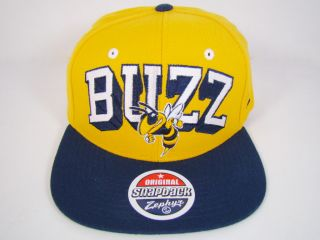 Georgia Tech Yellow Jackets Buzz Snapback Hat Yellow Bold Block Logo