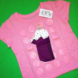 NEW* 1st Birthday 1 Year Baby Girls Graphic Shirt 9 12 Months Gift