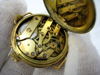Diamond Enamel 14k Gold Pocket Watch to Wrist Watch Conversion