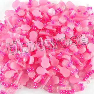 10 x DIY 3D Lollipop Glitter Nail Art Decoration Acrylic Pink 626