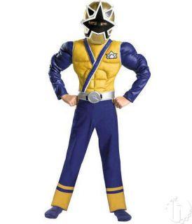 Power Rangers Gold Samurai s 6 Classic Muscle Child Halloween Costume