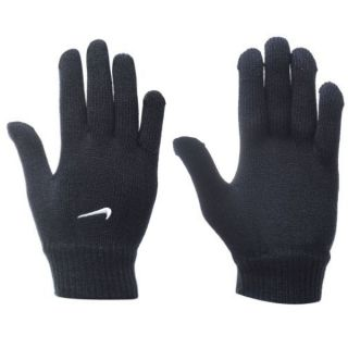 Nike Mens Knitted Winter Gloves Black Sports Gloves Size L XL Swoosh