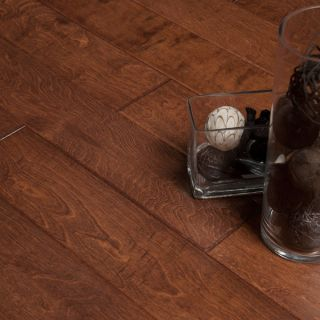 Hand Scraped Cinnamon Birch Hardwood Flooring Wood Floor