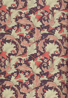 British ROSE & HUBBLE Art Nouveau WILLIAM MORRIS Fabric GRANVILLE Wine