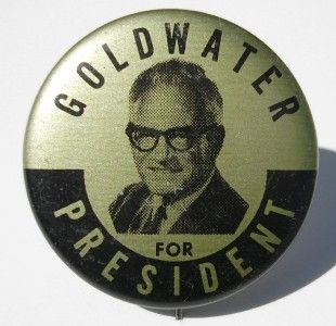 RARE Barry Goldwater President Campaign Pinback Button