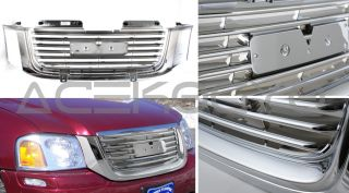 2003 2008 GMC Envoy Chrome Front Upper 1pc Grill Grille Sle Body Hood