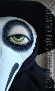 OOAK Pfatt Primitive Folk Art Plague Doctor Mask Doll Joyce Stahl Ehag