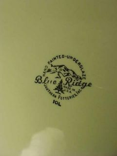 Southern Pottery Co Blue Ridge Green Briar 9 3 8 Luncheon Plate