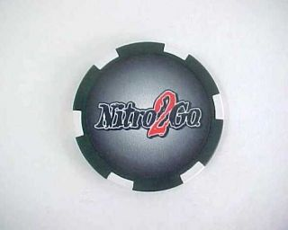 Nitro2Go High Energy Shots Drinks & Pills Promotional Poker Chip Black