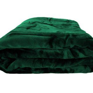 Brand New Soft Dark Green Mink Plush Blanket Queen Full
