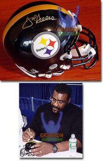 Joe Greene Autographed Pittsburgh Steelers Mini Helmet GA