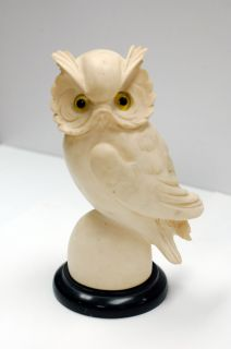 Vintage 1970s A Giannelli Owl Bird Statue Sculpture Figure Figurine