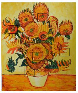 High Quality Van Gogh Reproduction Sunflower Canvas Oil Painting Free