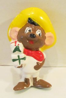 Looney Tunes 1978 Speedy Gonzales Figural Ceramic Christmas Ornament